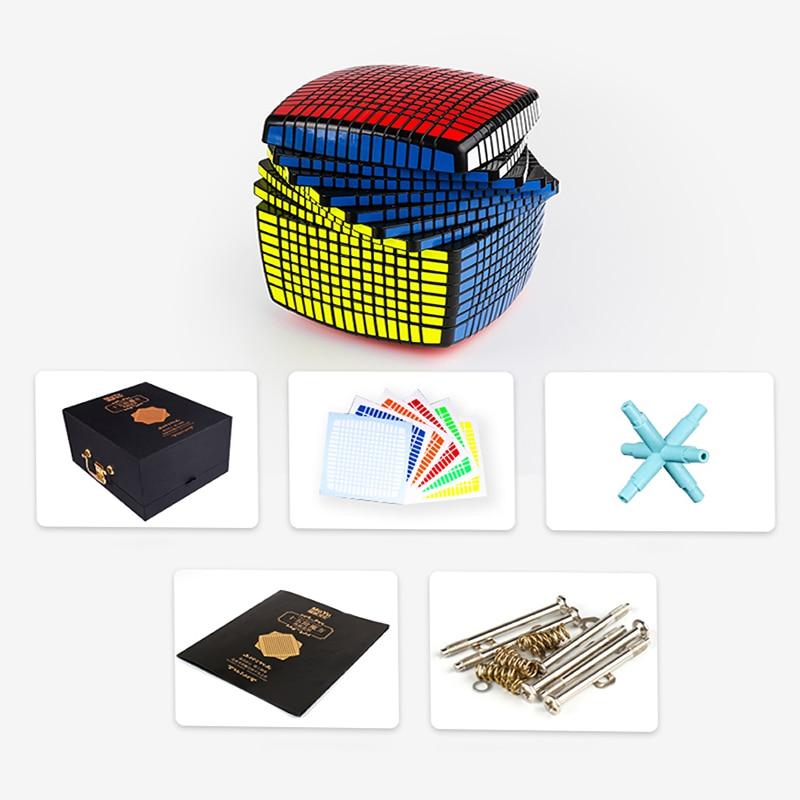 D-fantix Moyu Speed Cube 15x15x15 Cube magique professionnel Puzzle jouets éducatifs noir pour enfants adulte
