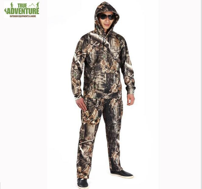 Hunting clothes Camouflage BIONIC OUTDOOR,CLIMBING FISHING camo hoodie sweatshirt pullover +pants