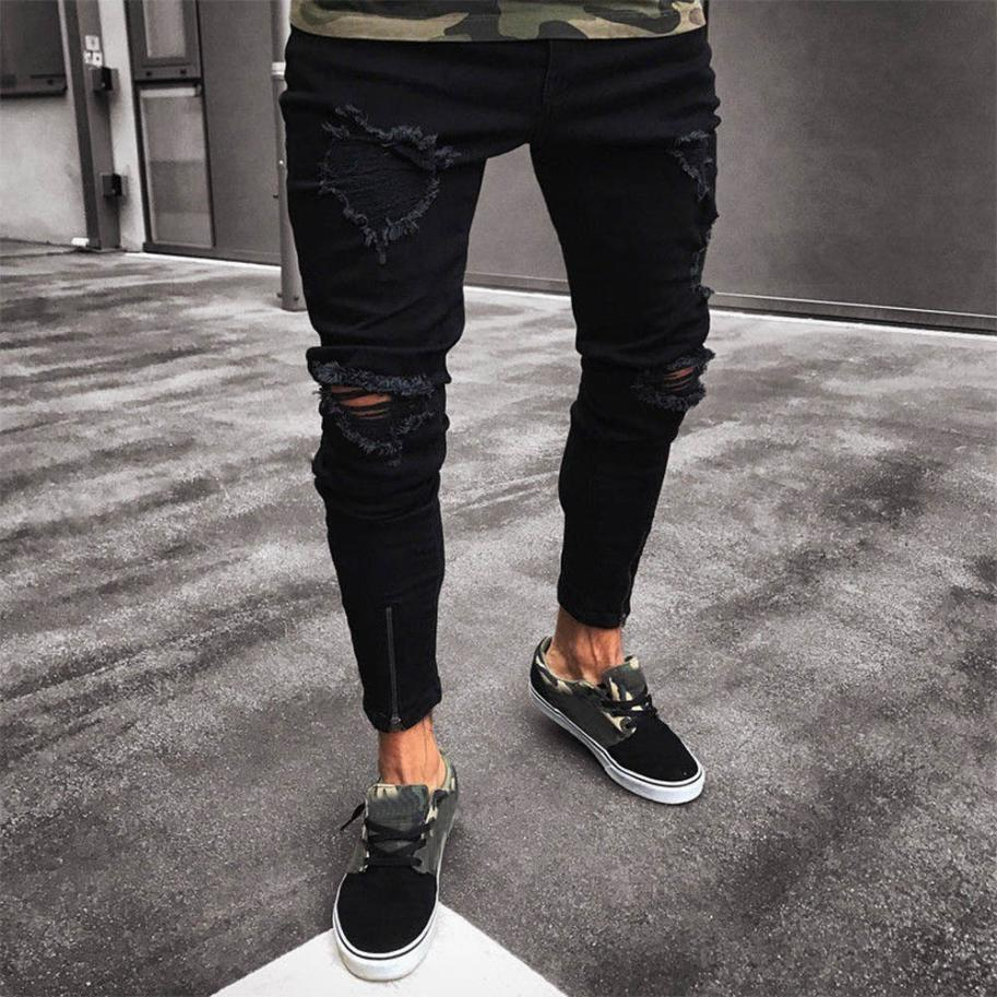 2018 men's new jeans men's hol...