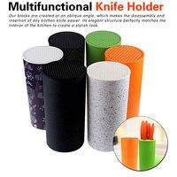 Insert Knife Multifunctional Plastic Tool Holder Knife Block Knife Stand Sooktops Tube Shelf Chromophous Scissors Holder