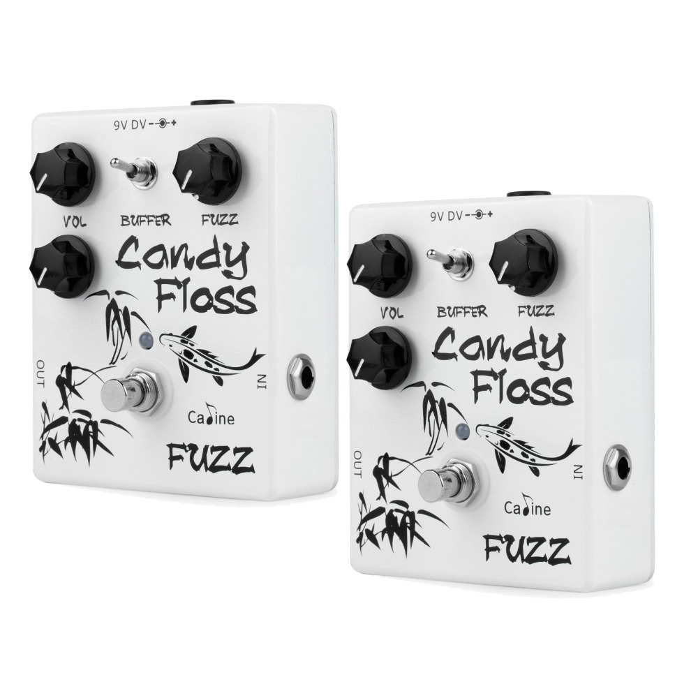 2PCS Caline CP-42 Candy Floss Fuzz Guitar Effect Pedal With True Bypass Guitar Accessories Aluminum Alloy Housing CP42 Caline caline cp 29 guitar effect pedal mixing boost white heat true bypass design