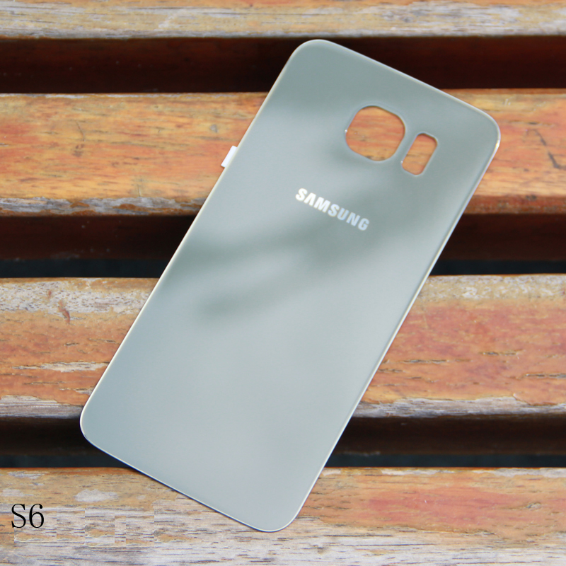 SAMSUNG Original Back Battery Cover Glass Housing For Samsung GALAXY S6 G920 G920A G925F G925FQ S6 Edge Back Rear Glass Case
