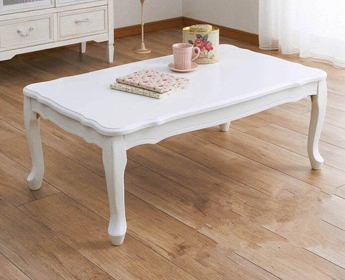 Modern Center Table Folding Leg Rectangle 100cm 2 Color White Pink Living Room Furniture Wood