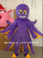 mascot OCTOPUS SQUID Mascot costume hot sale Halloween cartoon character fancy dress carnival costume outfit suit