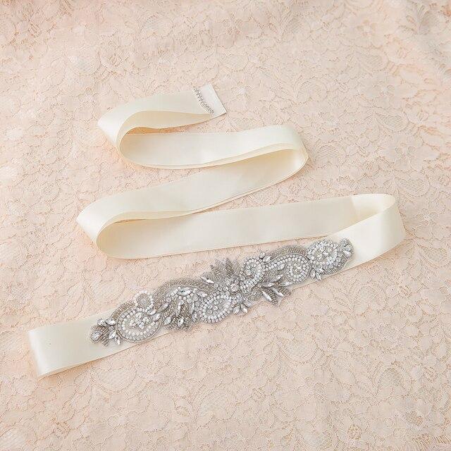 TOPQUEEN women's S280 Rhinestones Pearls Wedding evening dress sashes Belts Bridal Belts Bridal Sashes