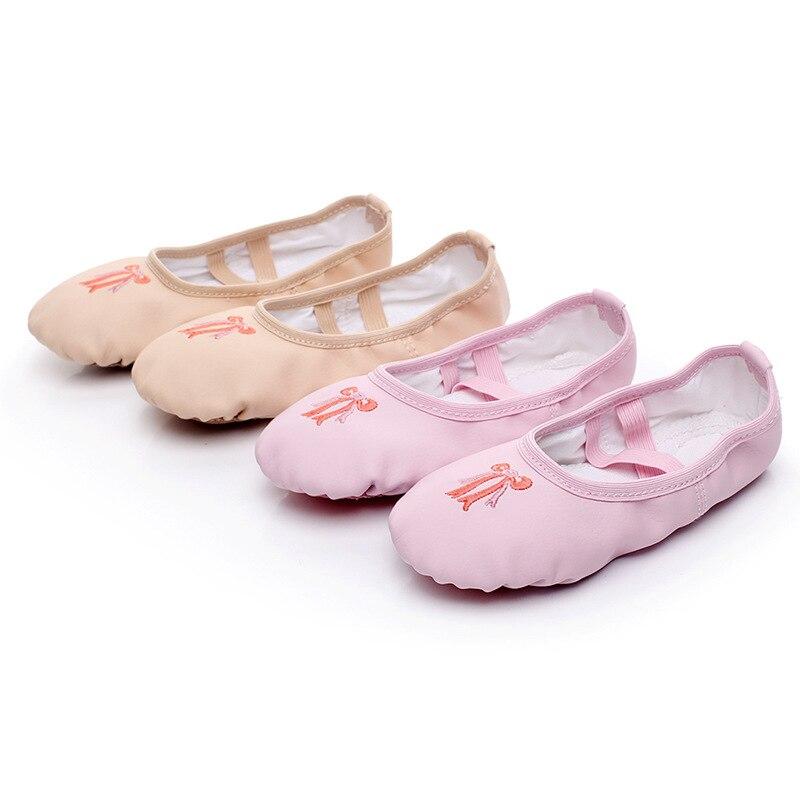 Free shipping Children's Dance Shoes Women PU ballet Training dance Shoes Adult Cat's Claw Shoes Girls' Yoga Dance Shoes JQ-299