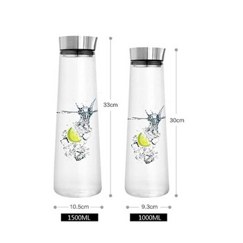 900-1800ML Thickened Glass Big water bottle with Stainless Steel Lid Carafe boiling wate Juice Glass Pitcher Bottle botellas 3