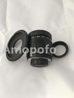 Black 50mm f1.4 CCTV TV Lens C mount for Olympus PEN E P6 / E PL7 / E PL6 / E PL5 / E PM3 / E PM2 / E PL3+C M4/3+2 Macro Ring