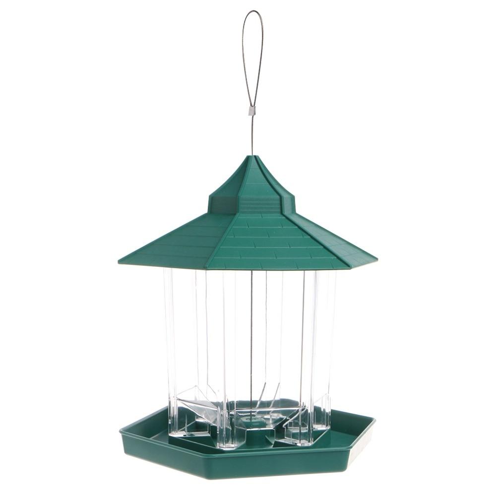 New European style wild bird feeder Outdoor bird feeders food container Hanging Gazebo Bird Feeder Perfect for Garden Decoration Кормушка