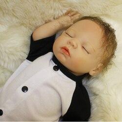 Lifelike Silicone Reborn Baby Dolls Sleeping Baby Boy Doll Bebe Reborn Toddler Boneca Reborn tsum tsum Adora Doll Brinquedos Toy