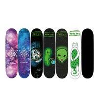 1pcs 24x85cm Skateboard Sandpaper Sticker Perforated Skateboard Deck Grip Tape Double Rocker Deck Sandpaper