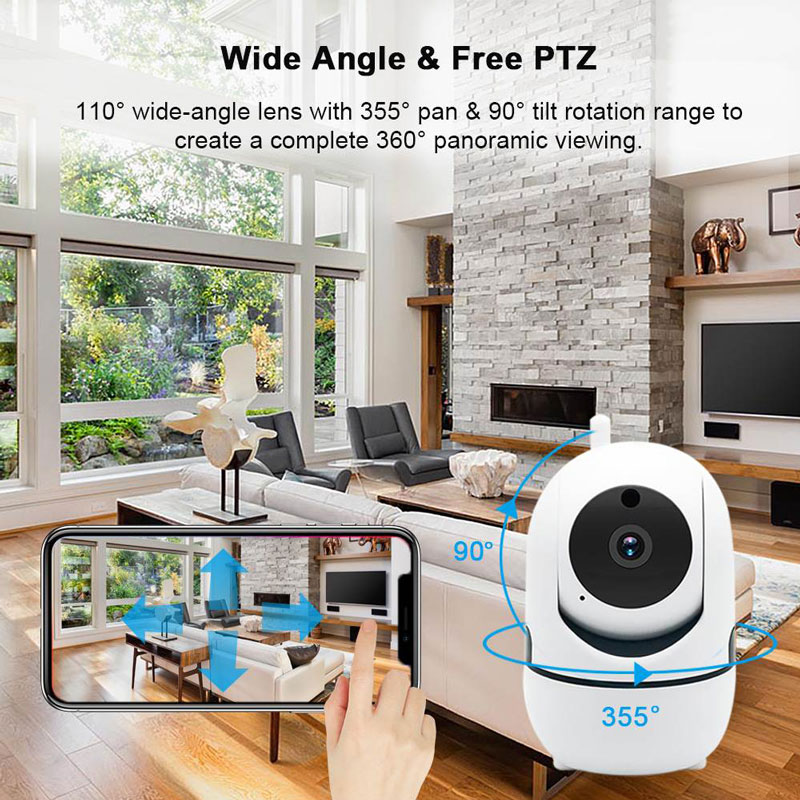 Wireless IP Baby Monitor With Night Vision And Auto Tracking check on your Baby At Home 1