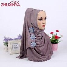 2017 высокое качество нового прибытия хлопка турецкая хидёаб стили malaisien исламская одежда для женщин платок хиджаб моды шляпы