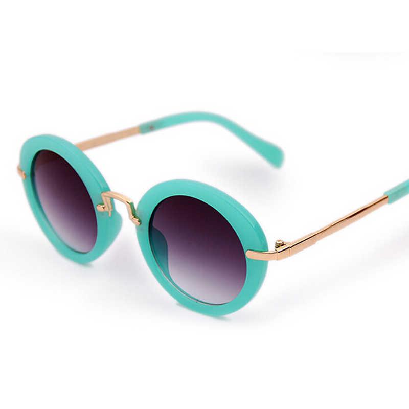 5632e515d22 ... New Brand Designer Kids Round Sunglasses Children Girls Cute Mirror  Baby UV400 Mirror Kawaii Sun Glasses