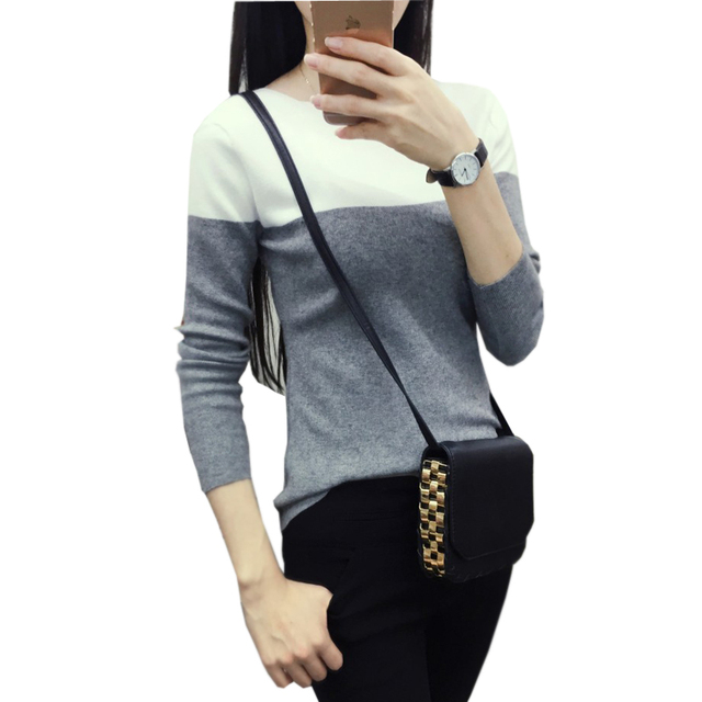 gilet femme manche longue knitted women sweater womens sweaters fashion 2015 autumn pullover pattern pull slim jersey mujer