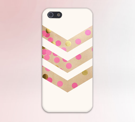Pink x Gold Polka Dot Bubbles Design plastic mobile phone cases for Apple iPhone 4 4s 5 5s 5c 6 6s plus cell cover