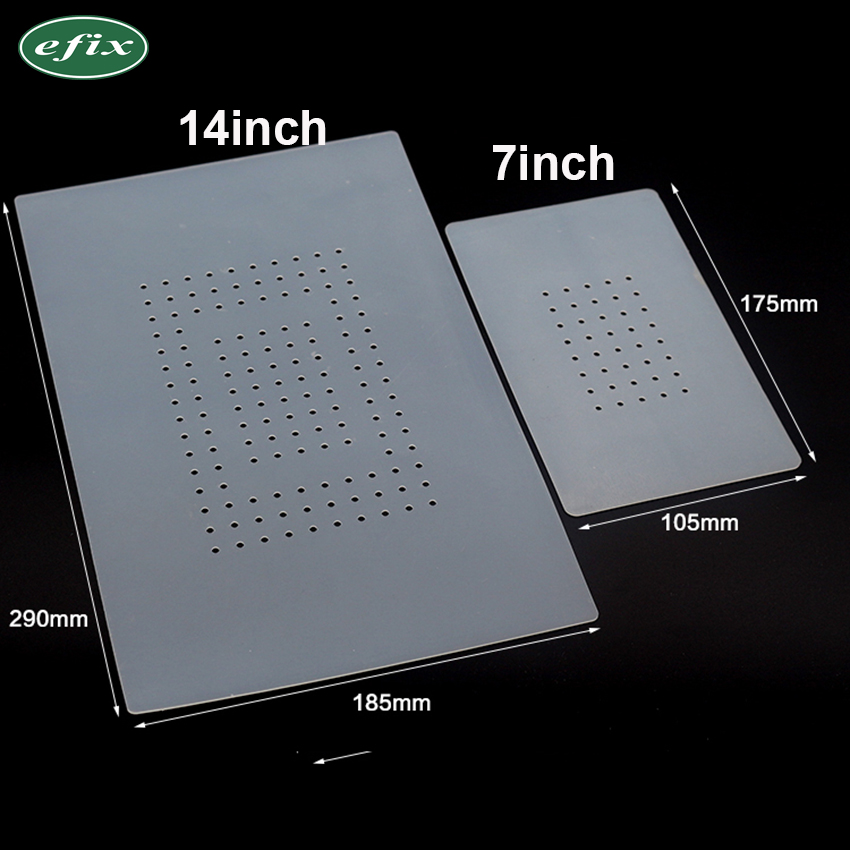 10 pcs 7Inch Heat Insulation Silicone Pad For LCD Separator Machine With Holes