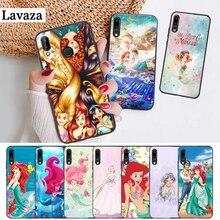 купить Lavaza Princess Ariel Little Silicone Case for Huawei P8 Lite 2015 2017 P9 2016 Mimi P10 P20 Pro P Smart Z 2019 P30 онлайн