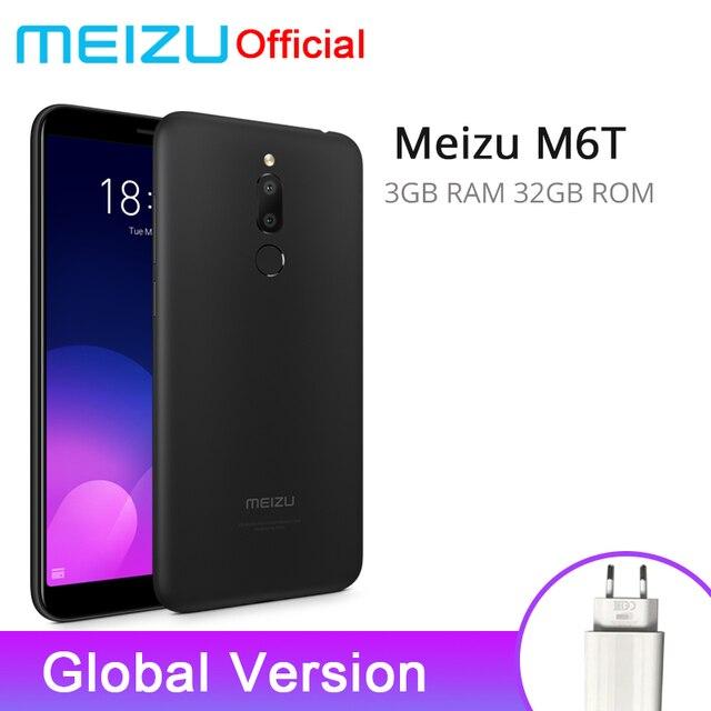 """Официальная глобальная версия Meizu M6T 3 GB 32 GB мобильный телефон mtk6750 восемь ядер 5,7 """"двойной сзади Камера 3300 mAh Батарея отпечатков пальцев ID"""