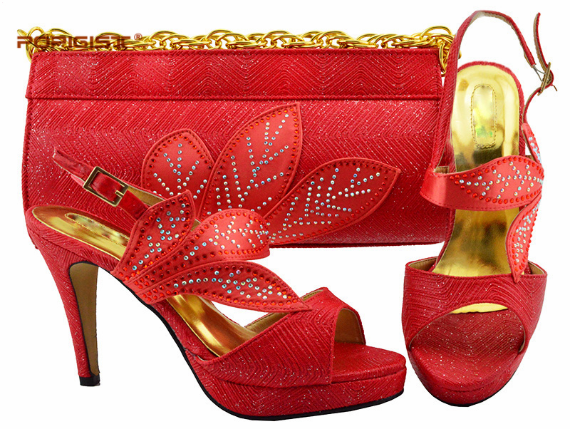 Yellow Fashion Italian Shoes With Matching Bag Comfortable