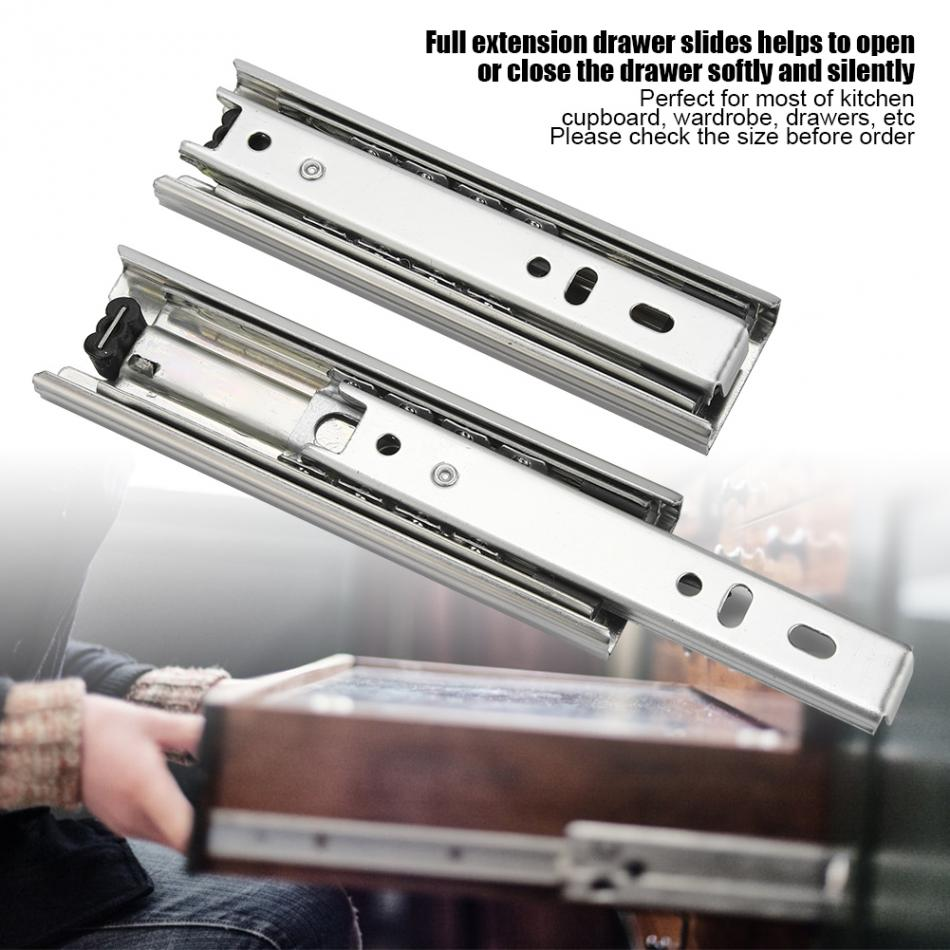 2pcs 5in Steel Drawer Slide Track Rail