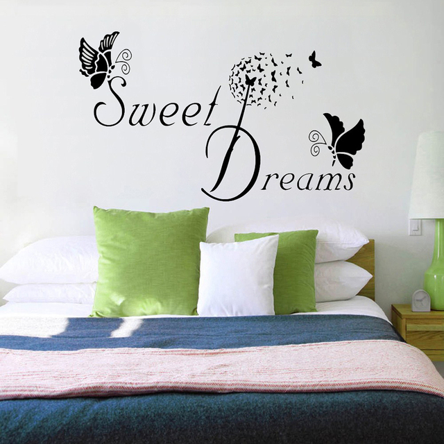 Merveilleux Sweet Dream Wall Stickers Bedroom Decor Butterfly LOVE Quote Living Room  Wall Sticker Removable Decals DIY