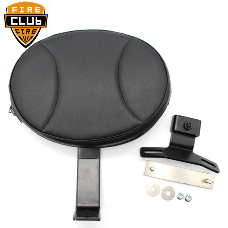 For Harley Fatboy Heritage Softail 2007-2017 Motorcycle Adjustable Plug In Driver Rider Seat Backrest Pad Detachable