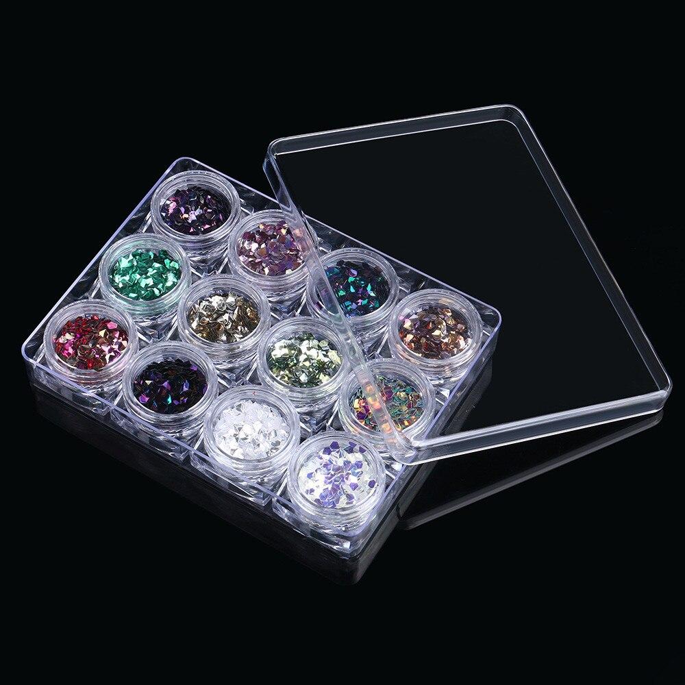 12 Цвет супер блеск Multi Цвет ed три алмаз для ногтей Книги по искусству украшения обувь и Украшение в виде танцующих фигурок Step.13