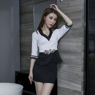 2019 New Spring And Summer In The Sleeve Sexy Sauna Beauty Pedicure Technician Set KTV Professional Work Clothes