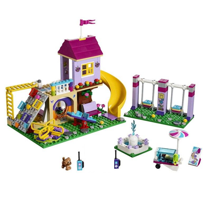 New Girl Heartlake City Playground Building Blocks Bricks Education Sets Toys For Girls Gift Legoinglys Friends 41325