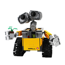 цены на 16003 Idea Robot WALL E Building Blocks Bricks Blocks Toys for Children WALL-E Block Birthday Gifts For Children  в интернет-магазинах
