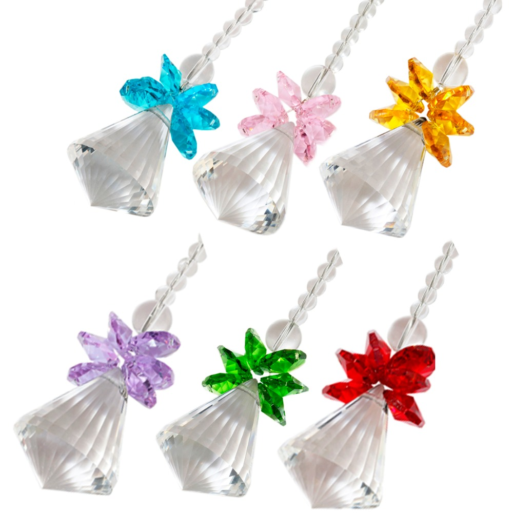Crystal Guardian Angel Ornament Pendant Hanging,Christmas Decoration,Handcrafts  Pack Of 5(China