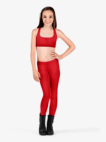 Icostumes Girls Leggings  Lycra Gymnastics Dance Leggings  Low Waist  Dance Leggings Gym Workout Fitness Yoga Legging Pants  (5)