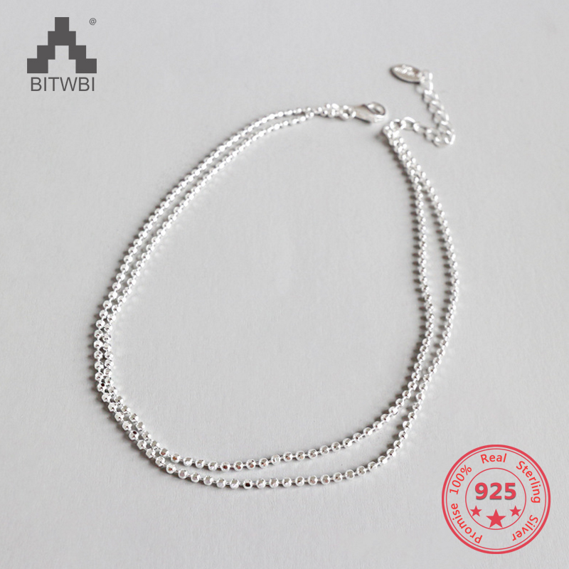 Summer Fashion 925 Sterling Silver Chain Anklets For Women Beach Party Beads Ankle Bracelet Foot Jewelry Girl Best GiftsSummer Fashion 925 Sterling Silver Chain Anklets For Women Beach Party Beads Ankle Bracelet Foot Jewelry Girl Best Gifts