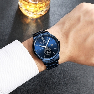 Image 5 - NIBOSI Relogio Masculino Relojes Blue Gold Watch Mens Watches Top Brand Luxury Sport Quartz Watch Business Waterproof Wristwatch