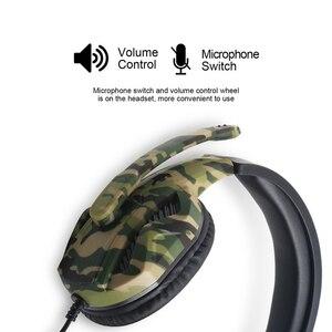 Image 4 - PS4 سماعات للعب 3.5 مللي متر التوصيل الإنترنت بار 50 مللي متر سائق HD الصوت جامعة أساطير سماعة الألعاب مع الحوار Mic بنين كامو