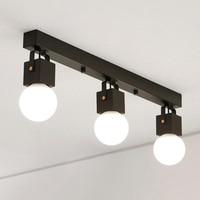 Industrial loft ceiling light Iron creaative ceiling lamp E27 hot sale coffee bar Hanglight LED bulb Black/White AC 110V 220V