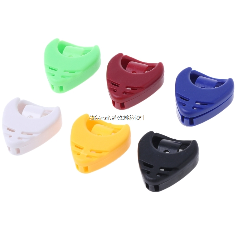 Fee Shipping 5pcs Guitar Accessories Plectrum Heart Shaped Pick Holder Box Musical Instrument