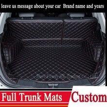 Пользовательские Полный багажник 3D коврики кожа pad для Volkswagen VW passat lavida сантана 3000/2000 CC touran КОНФЕТЫ Бесплатная доставка