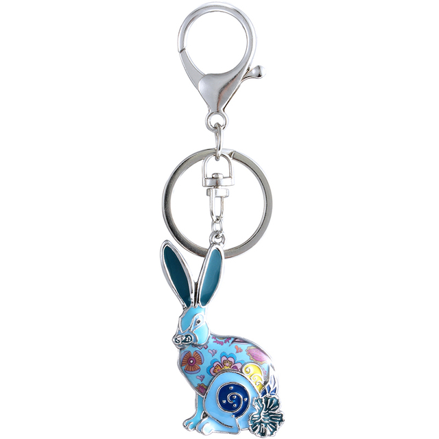 Купить уникальный брелок с кроликом marte & young подарок для женщин картинки