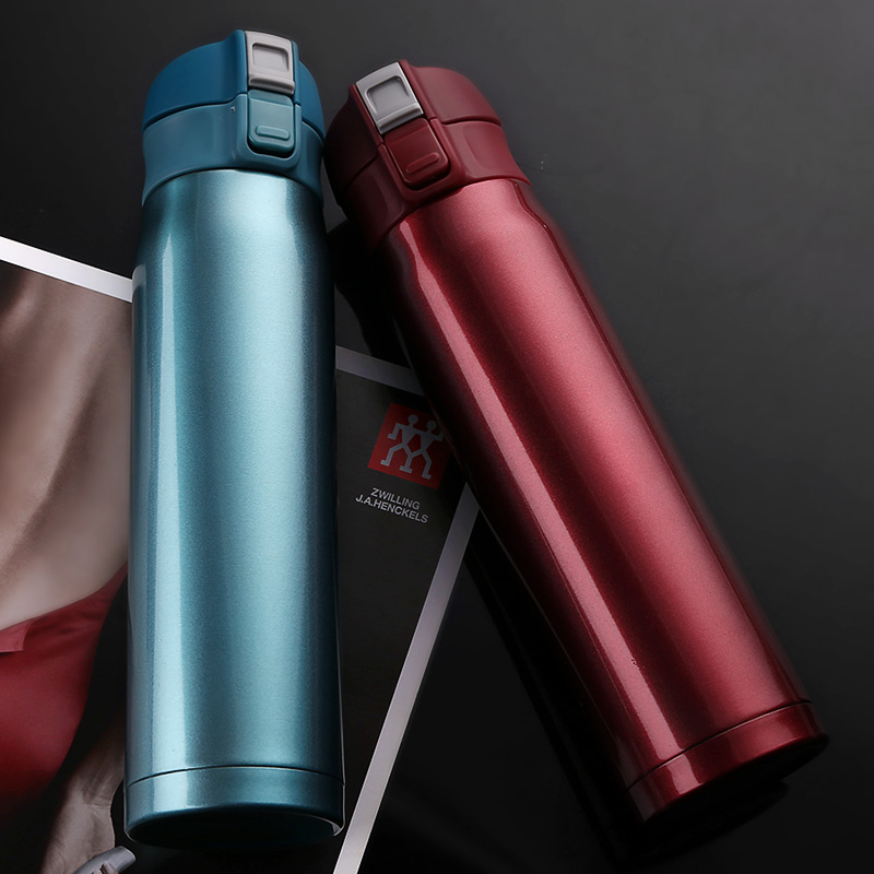 Men Vacuum Flasks SUS304 Thermoses 480ml Premium Quality Easy Opening 480ml Mini Cup Car Use