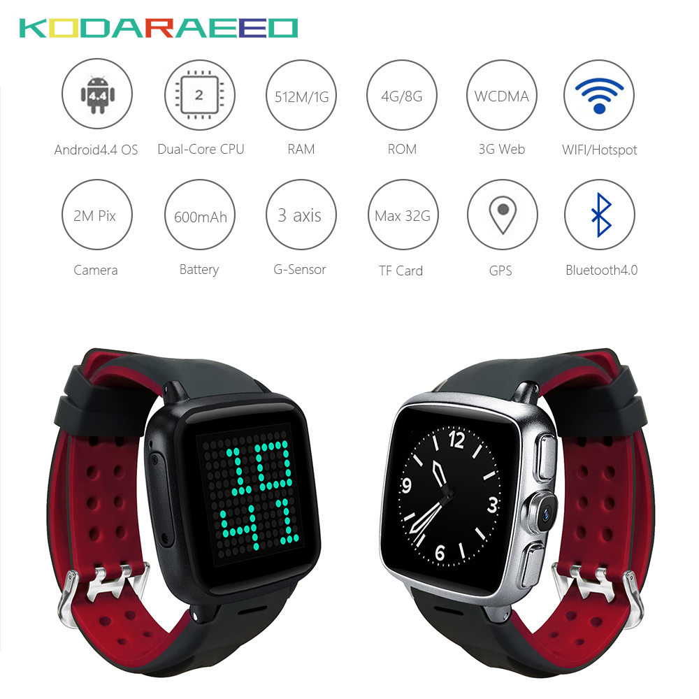 F05 Smart watch 3G Android 4.4 metel smart watch phone 1G RAM 8G ROM 2MP camera heart rate tracker Pedometer WIFI GPS smartwatch цена
