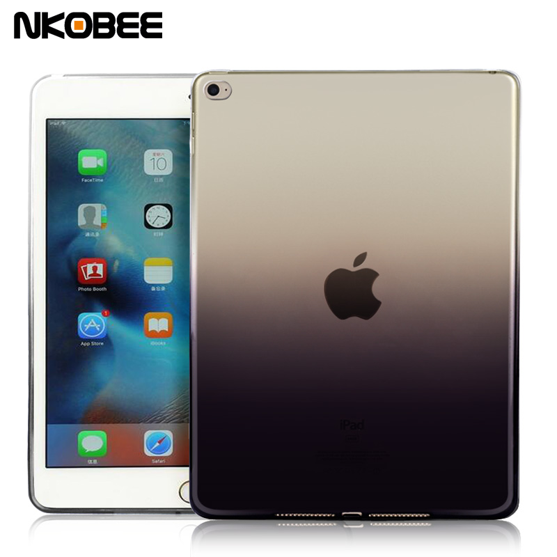 NKOBEE For Apple iPad Air 2 Air2 Case funda Silicon Soft TPU For iPad Air 2 Case Transparent For iPad 6 Cover Tablet Accessories 2017 silicon slim soft tablet case for ipad air 1 rubble protective funda cover for apple ipad air 1 2 for ipad 5 6 case capa