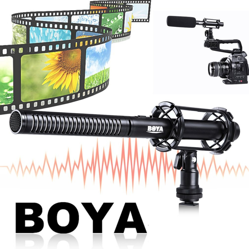 BOYA Professional Condenser Video Interview Reporting Microphone Aluminum Alloy Lightweight For Canon For Nikon For Sony Cameras
