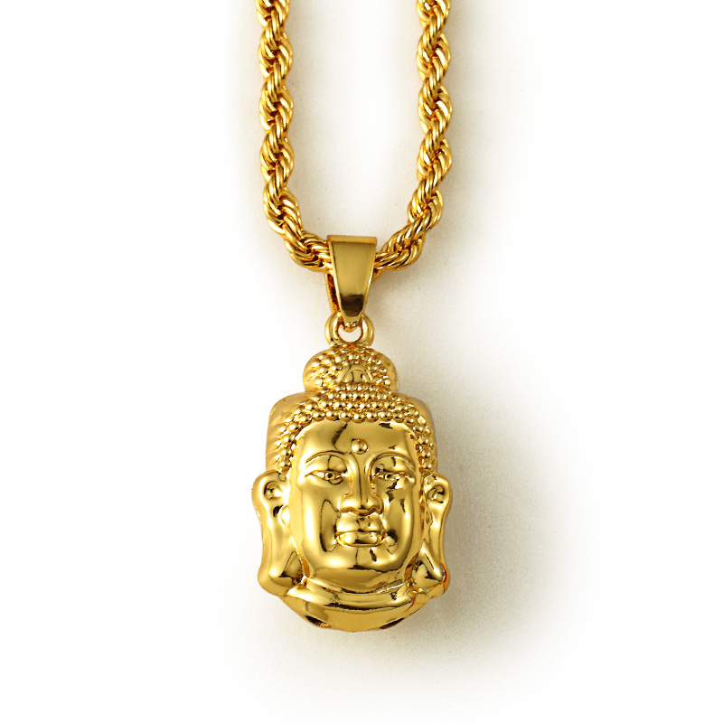 Ice out small buddha pendant necklace star jewelry men hip for Zen culture jewelry reviews