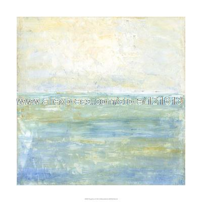 J Holland Tranquil Coast Oil Paintings On Canvas Decoration Art Cheap  Textured Abstract Art Office Background
