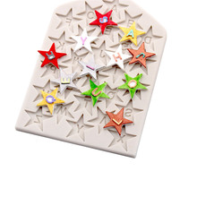 2019 Hot Sale LIMITOOLS Pentagram Shape Silicone Moulds Fondant Chocolate Baking Cookie Cutters DIY Supplies Free Shipping