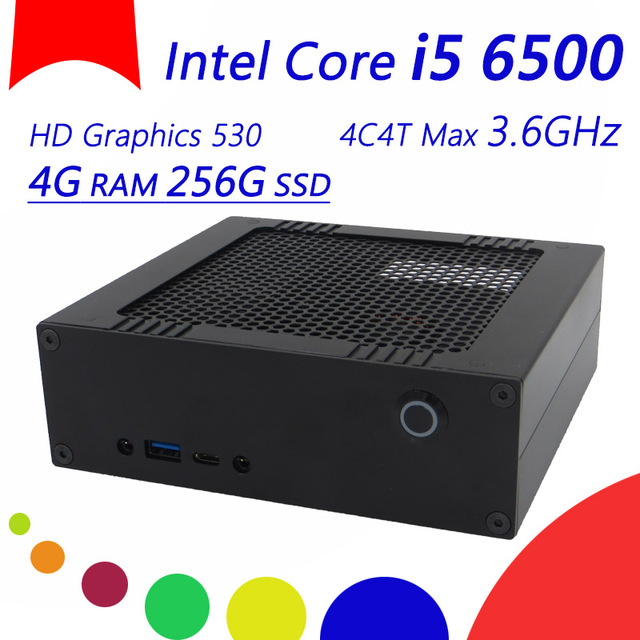 New Wolferdtech DIY Mini Desktop Computer With 4G DDR4 RAM 256G SSD, 4K HD Graphics 530, Windows 10 PC
