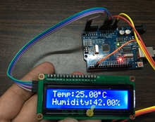 Electronic temperature and humidity meter DIY Arduino+LCD1602+DHT11