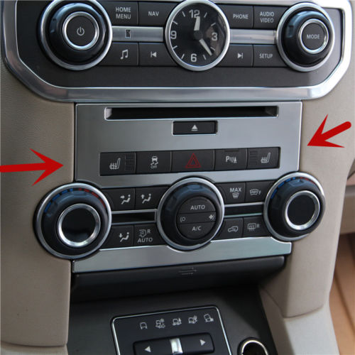 For Land Rover LR4 Discovery 4 Center Console CD Panel Cover Trim 2012-2015 2pcs lapetus for land rover discovery sport 2015 2018 interior styling console gear shift knob shifter panel decor frame cover trim